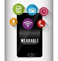 Wearable technology equipment vector