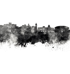 Nice skyline in black watercolor on white vector