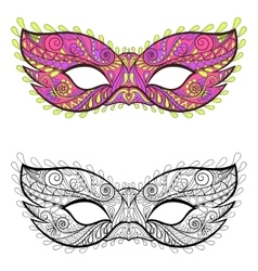 Bohemian festive masks set decorative vector