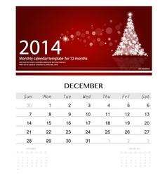 2014 calendar monthly calendar template for vector image