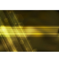Transparent golden bokeh background vector image