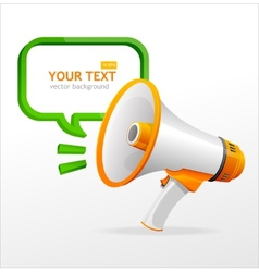 Megaphone speech templates for text vector