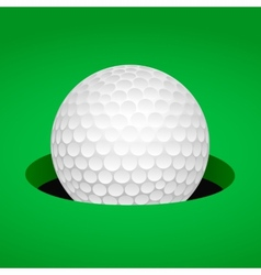 Golf ball in cup vector