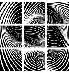 Whirl movement abstract backdrops set vector
