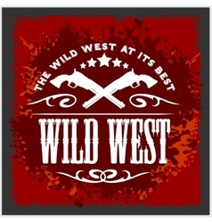 Wild west vintage artwork for boy wear on vector