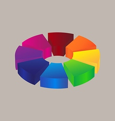 Abstract colorful 3d icon logo design vector