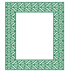 Celtic Key Pattern - green frame border vector image