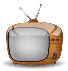 Cute wooden TV vector image