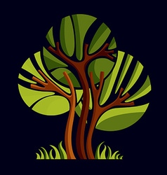 Art fairy of tree stylized eco symbol insight vec vector