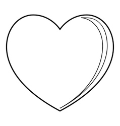 Big heart icon outline style vector