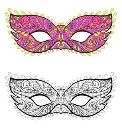 Bohemian festive masks set decorative vector