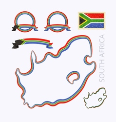 Colors of south africa vector