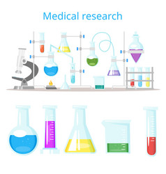 concept for chemical laboratory research vector image