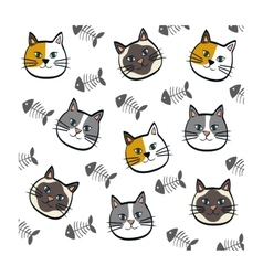 Cute cat cartoon vector image