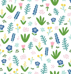 Cute little flowers on white background vector