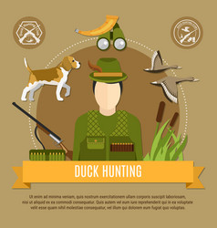 Duck hunting concept vector