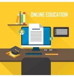 E-learning computer vector