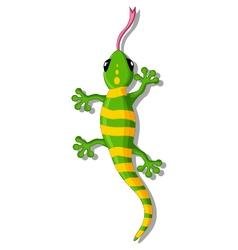 green gecko cartoon for you design vector image