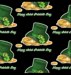 green st patrick s day hat with vector image vector image