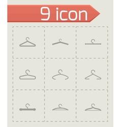hanger icon set vector image vector image