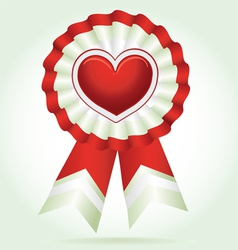 Heart award vector image