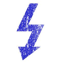 High voltage grunge textured icon vector