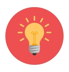 Lightbulb flat icon vector image