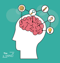 mind head brain creativity solution knowledge vector image
