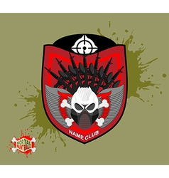Paintball logo skul protection mask heraldic vector