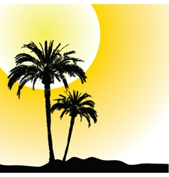 Palm trees design vector