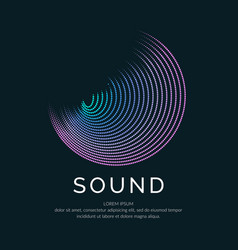 poster of the sound wave on vector image vector image
