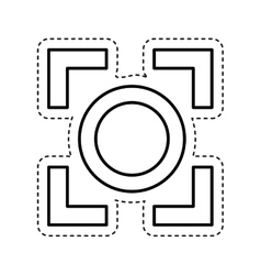 Target camera photographic icon vector