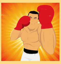 Uppercut technical gesture vector