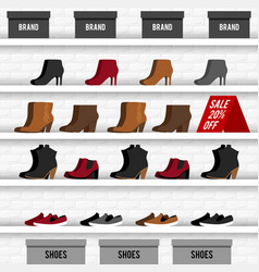 With shoes vector