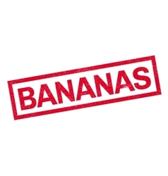 Bananas rubber stamp vector image