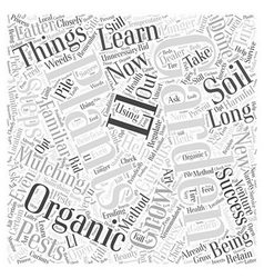 Steps to success with organic gardening word cloud vector
