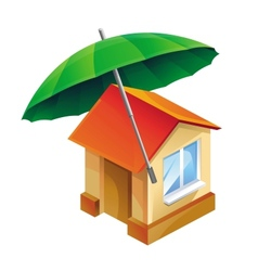 house icon and umbrella vector image
