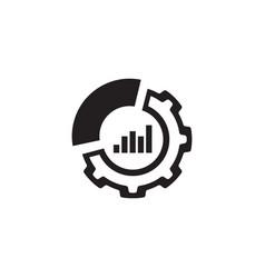 Set up analytics icon flat design vector