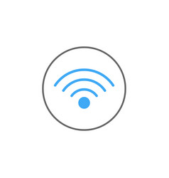 Wifi solid icon mobile sign and hotspot vector