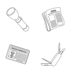 Flashlight newspaper with news certificate vector