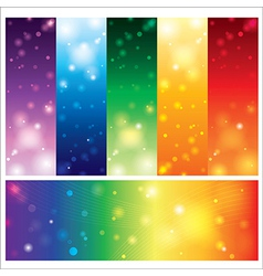 Template card colorful element design vector image