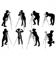 Photographer set vector