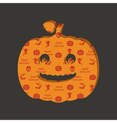 Halloween pumpkin decoration vector