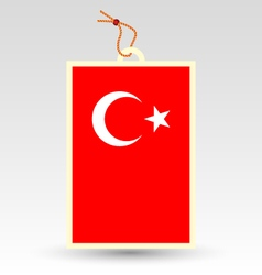 Turkish made in tag vector