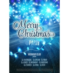Merry christmas party flyer abstract winter vector