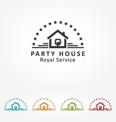 Royal party house vector