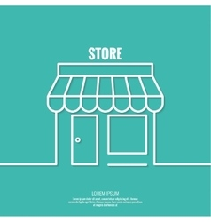 Facade of shops supermarkets marketplace vector
