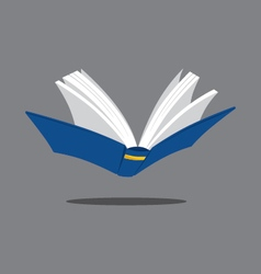 Open book dark blue vector