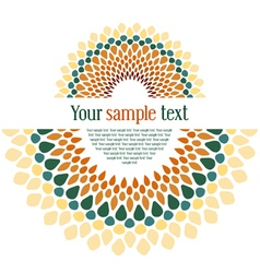 design textual card vector image