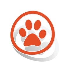 Animal sign sticker orange vector